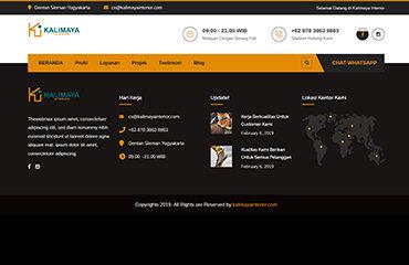 kalimaya interior website petaniwebsite jasa website interior kreatif yogyakarta jasa kelola website upload foto tulisan terjemahan
