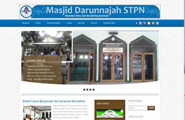 masjiddarunnajah website takmir masjid kampus mahasiswa stpn jasa kelola website upload foto tulisan terjemahan