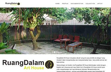 ruangdalamart website petaniwebsite jasa website gallery seniman galeri seni art keren jasa kelola website upload foto tulisan terjemahan